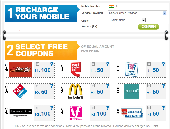 free online mobile recharge